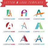 Letter A Logo Template Stock Photos