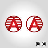 Letter a logo, icon and symbol vector illustration royalty free illustration