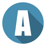 Letter A with a long shadow. Vector illustration EPS10 Stock Photo