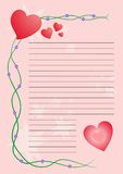 Letter love. Letter pink with hearts for Valentine Day Royalty Free Stock Photo
