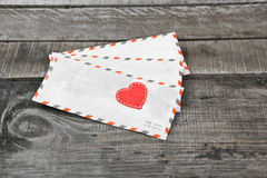Letter and love heart Stock Photography