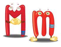 The letter M Stock Image