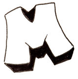 Letter M, Alphabet in graffiti style Royalty Free Stock Photo