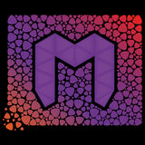 Letter m consisting of mediators Stock Image