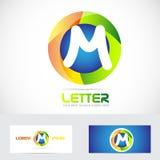 Letter M 3d logo Royalty Free Stock Photos