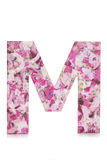 Letter M decoupage Royalty Free Stock Photography