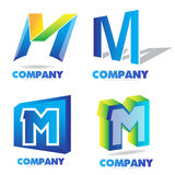 Letter M logo Royalty Free Stock Photography