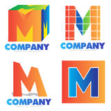 Letter M logo Royalty Free Stock Images