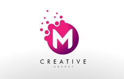 Letter M Logo. M Letter Design Vector. Dots Letter M Logo. M Letter Design Vector with Dots vector illustration