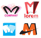 Letter M logo Stock Photography