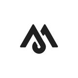 Letter M logo. Stylish illustration of letter M that can be used for a logo or as isolated graphic element Royalty Free Stock Image