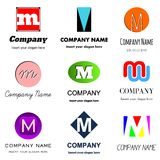 Letter M logo stock illustration