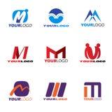 Letter M logo vector set design Royalty Free Stock Images