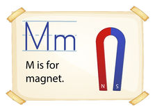 A letter M for magnet Royalty Free Stock Images