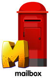 A letter M for mailbox Royalty Free Stock Photography