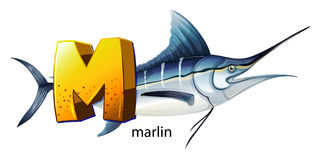 A letter M for marlin Royalty Free Stock Photos