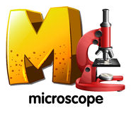 A letter M for microscope Royalty Free Stock Photo