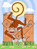 Letter M & Monkey Stock Image