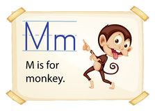 A letter M for monkey Royalty Free Stock Photos