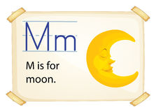 A letter M for moon Stock Image