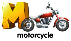A letter M for motorcycle Royalty Free Stock Photography