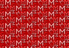 Letter M pattern in different colored red shades for wallpaper. Background use vector illustration