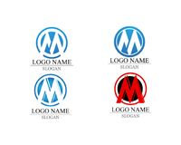 Letter M vector icons such logos.  royalty free illustration