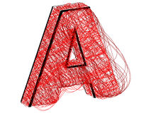 Letter A made of lines Stock Images