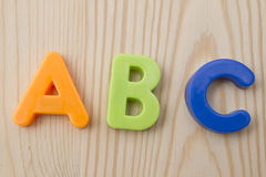 Letter magnets Stock Photos