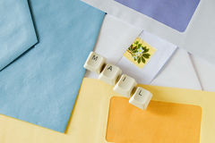 Letter mail and envelopes Royalty Free Stock Images
