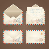 Letter Mail Vintage Set. Vector Royalty Free Stock Image