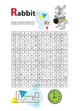 Letter Maze R. This worksheet helps kids recognize and name capital and lowercase letters. Kids also exercise thinking Stock Photography