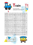 Letter Maze T. This worksheet helps kids recognize and name capital and lowercase letters. Kids also exercise thinking. Skills and fine motor skills as they vector illustration
