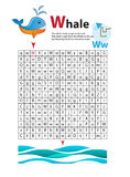 Letter Maze W. This worksheet helps kids recognize and name capital and lowercase letters. Kids also exercise thinking Stock Photography