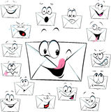 Letter message envelope cartoon - funny vector illustration Royalty Free Stock Photo