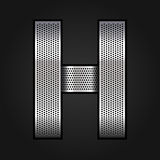 Letter metal chrome ribbon - H Stock Images
