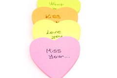 Letter miss you Stock Images