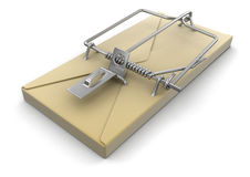Letter mousetrap (clipping path included) Royalty Free Stock Images