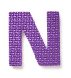 Letter N. Isolated on the white background Stock Photos