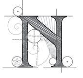 Letter N Stock Image