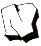 Letter N, Alphabet in graffiti style Royalty Free Stock Photos