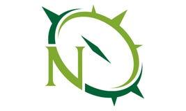 Letter N Compass Emblem. Logo Design Template Vector Royalty Free Stock Images