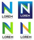 Letter N logo Stock Image
