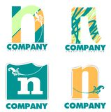 Letter N logo Stock Photo