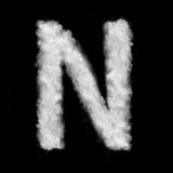 Letter N made of the clouds Stock Images