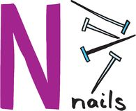 Letter N - nails Royalty Free Stock Images