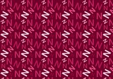 Letter N Pattern In Different Colored Pink Shades For