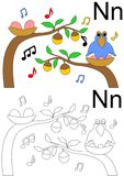 Letter n worksheet Royalty Free Stock Photos