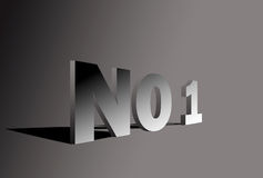 Letter NO1 in 3D Stock Photo