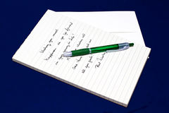 Letter on Notepad Stock Photos